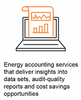Energy accounting services that deliver insights into data sets, audit-quality reports and cost savings opportunities