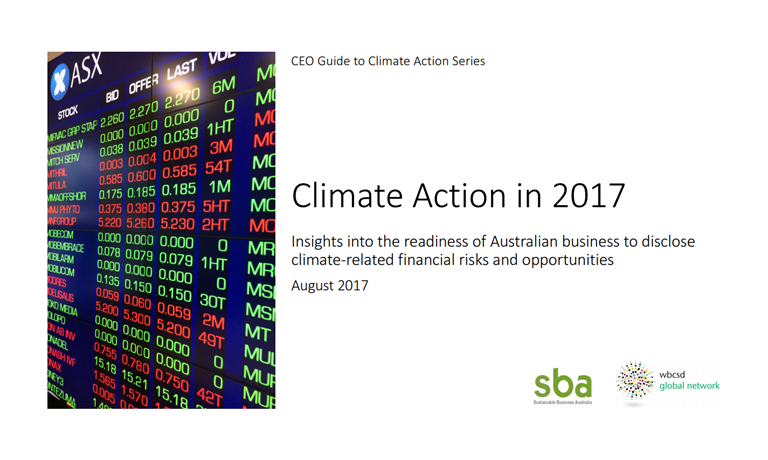 Climate action in 2017